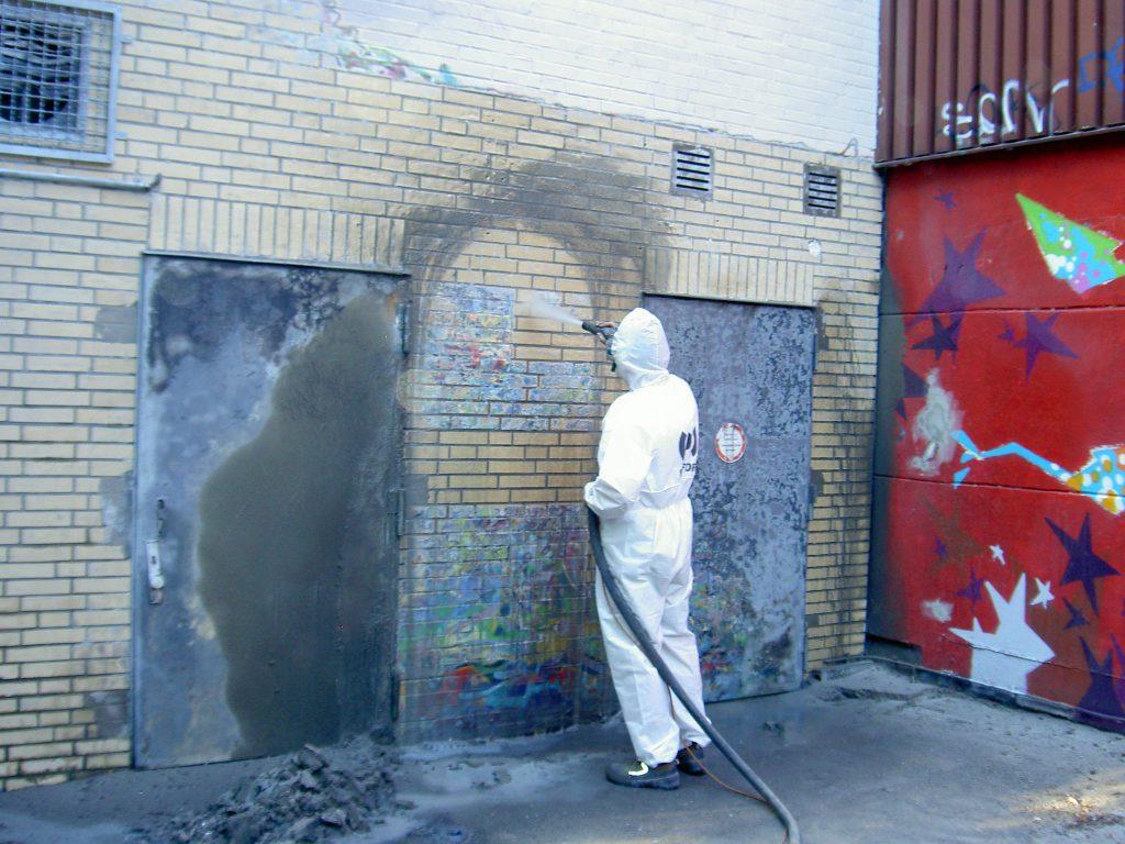 Hotze-OGT-Brandschaden Beseitigung mit Torbostrahlen