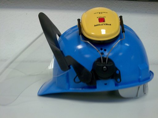 Hotze-OGT-Strahlschutzhelm mit Visier und Gehörschutz