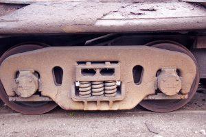 Hotze-OGT-Schienenwagen Fahrgestell nach der Reinigung mit 2.500 Bar