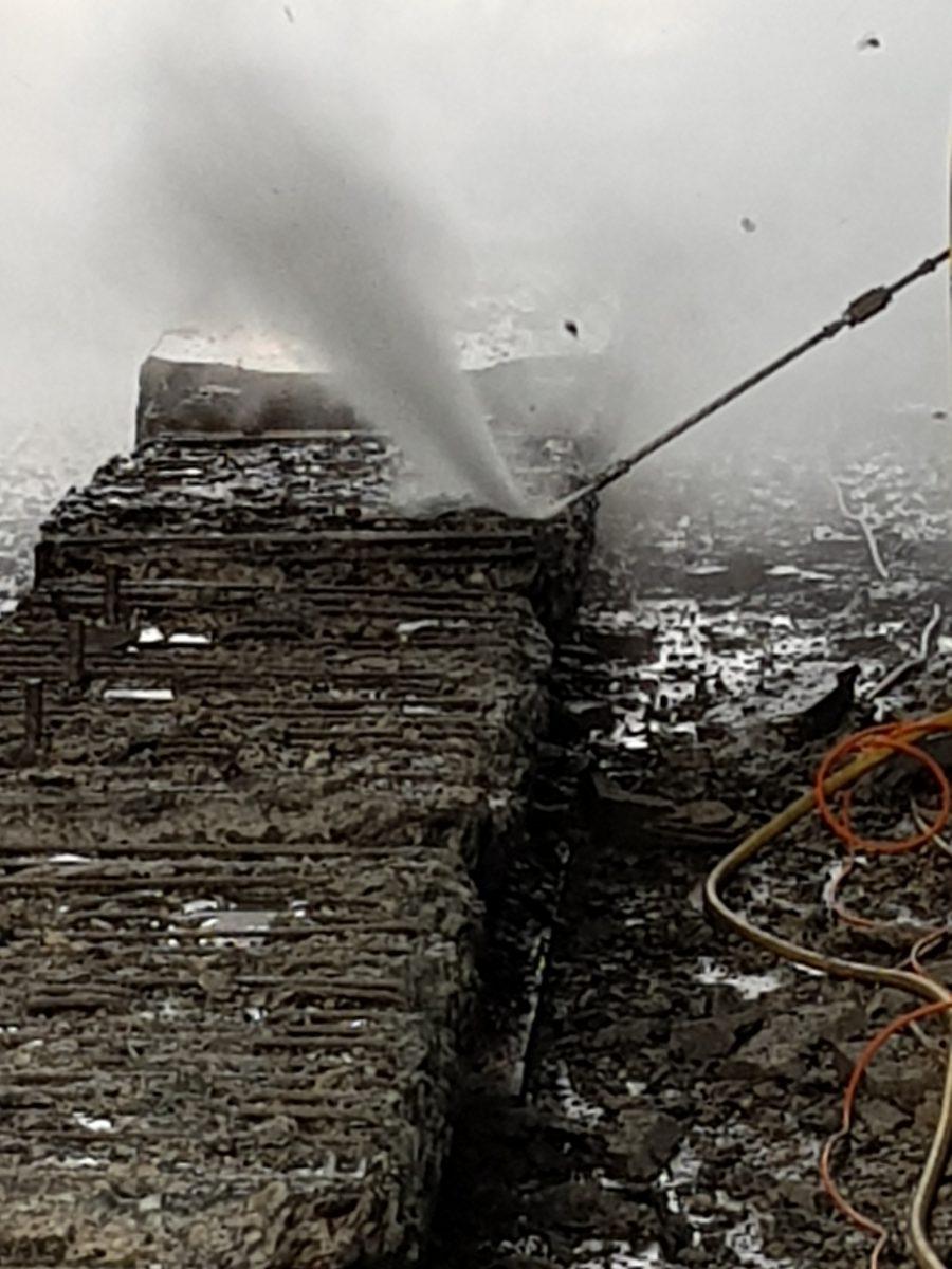 Hotze-OGT- Betontiefenabtrag freilegen und hinterstrahlen der Stahlarmierung bis zu 20 cm