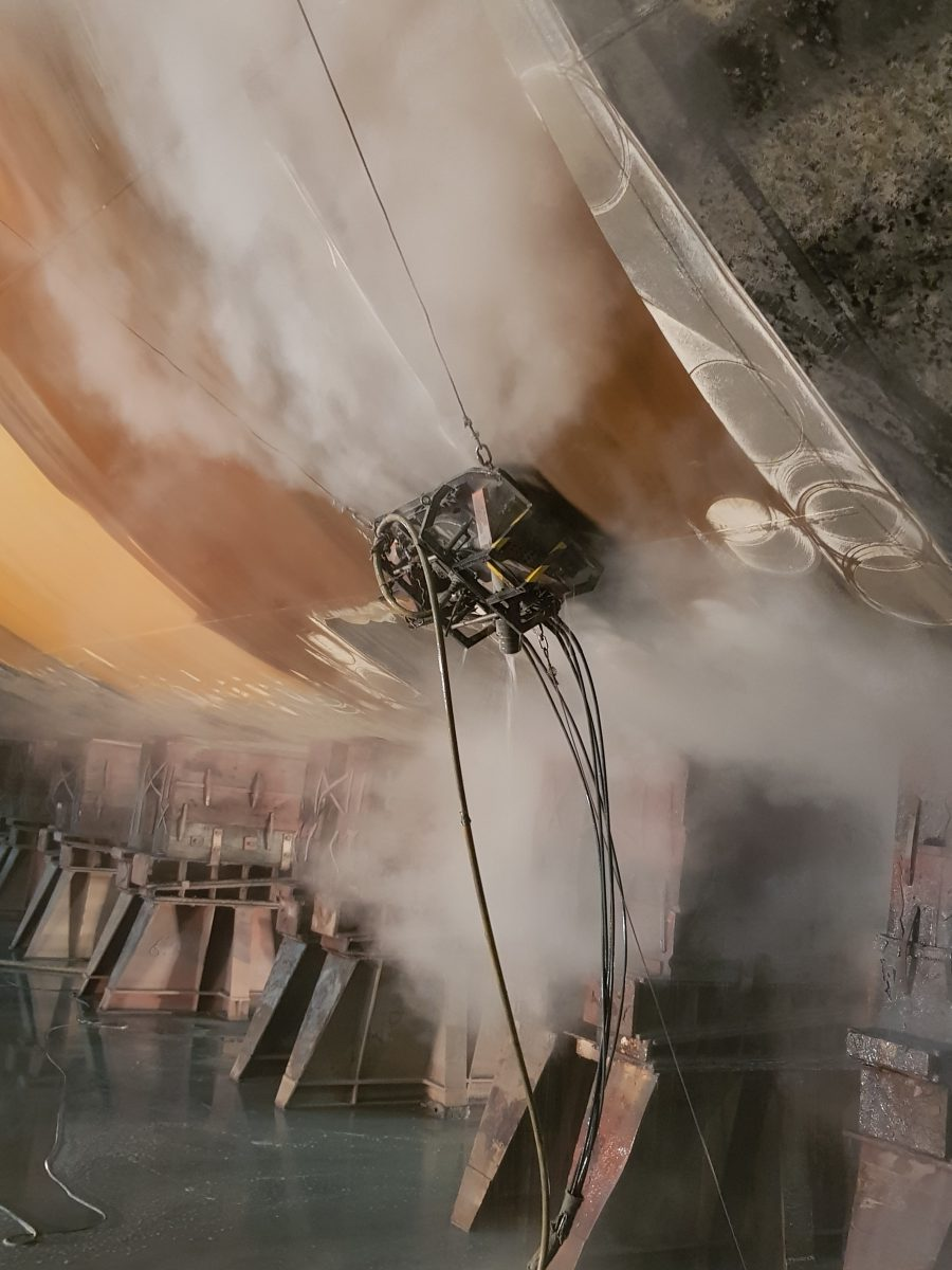Hotze-OGT-Höchstdruck Strahlrobotter im Einsatz