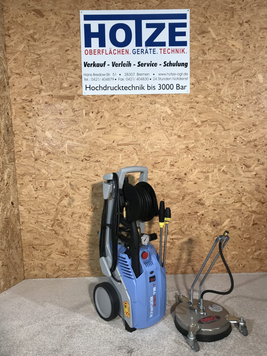 Hotze-OGT-Kränzle Hochdruckgerät mi VA Flächenreiniger